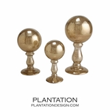 Finial Spheres Set | Gold Dust