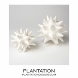 Spiky Deco Spheres | White