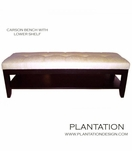 Carson Tufted Bench w/Lower Shelf