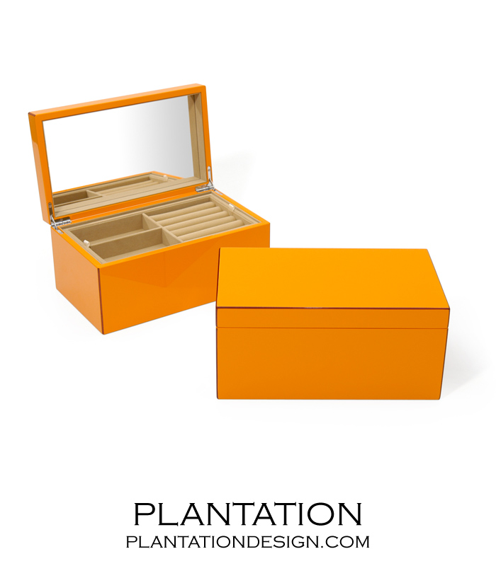 Lacquer Jewelry Box Orange PLANTATION