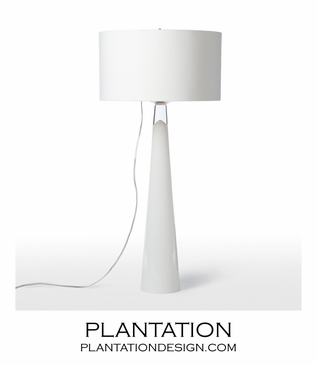 Blanche Glass Table Lamp