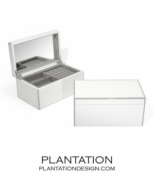 Lacquer Jewelry Box | White