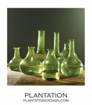 Recycled Vases Set   Green