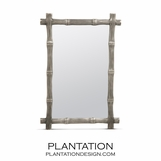 Bamboo Mirror | Antique Silver