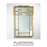 Greek Key Bamboo Mirror