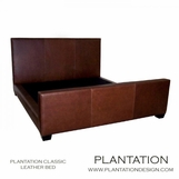 Plantation Classic Leather Bed | No. 1