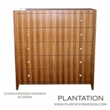 Cohen Highboy Dresser | Zebra