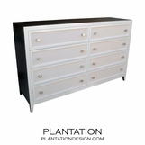 Fabric Front Dresser | 8-Drawer