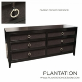 Fabric Front Dresser | Brown Linen