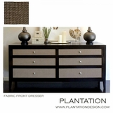 Fabric Front Dresser | Faux Shagreen