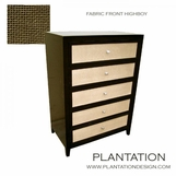 Fabric Front Highboy Dresser