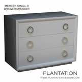 Mercer 3-Drawer Dresser, Painted