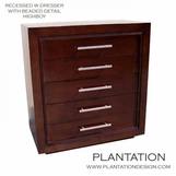 William 5-Drawer Recessed Dresser