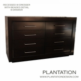 William 8-Drawer Recessed Dresser