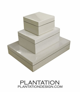 Lacquered Boxes | White