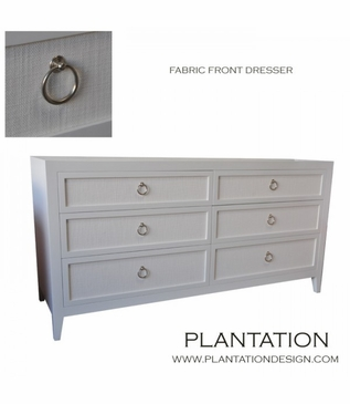 Frank Dresser, Painted w/Fabric Fronts