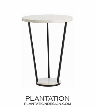 Dita Marble & Iron Side Table
