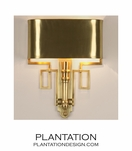 Torchiere Sconce | Antique Brass