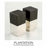 Lerma Onyx & Silver Bookends | Square
