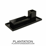 Lacquered Desk Set | Black