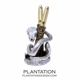 Pewter Pen Holder | Coiled Python