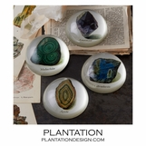 Gemma Glass Paperweights Set