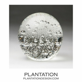 Solstice Small Glass Paperweight | Clear