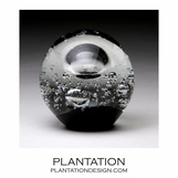 Solstice Small Glass Paperweight | Grey