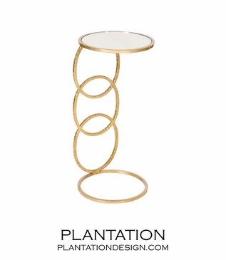 Rosie Side Table   Gold