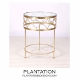 Cuff Side Table | Warm Silver