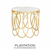 Delia Side Table | Gold