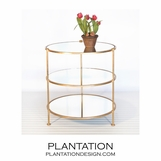 Diego Side Table | Gold