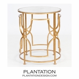 Ella Side Table | Gold