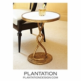 Lacroix Side Table | Gold