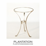 Leslie Side Table | Silver