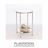 Rico Side Table | Nickel
