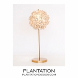 Lotus Gold Leaf Lamp | Natural Capiz