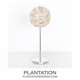 Lotus Nickel Lamp | Natural Capiz
