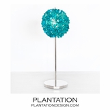 Lotus Nickel Lamp | Turquoise Capiz