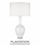 Hepburn Table Lamp | White