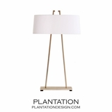 Rooney Lamp | Satin Silver