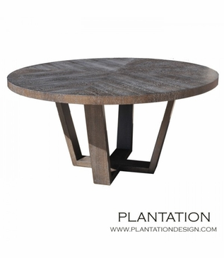 Hathaway Round Dining Table | Grey