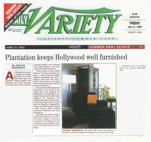 Daily Variety June 2002