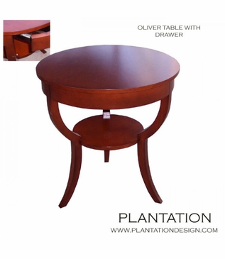 Oliver 1-Drawer Side Table, Stained