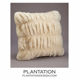 "Ruché ""Fur"" Pillows 