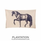 Prancer Canvas Pillow | Lumbar
