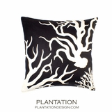 Reef Square Pillow | Black