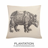 Rhino Canvas Pillow