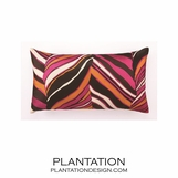 Jungle Linen Pillow | Pink