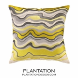 Puddle Linen Pillow | Yellow